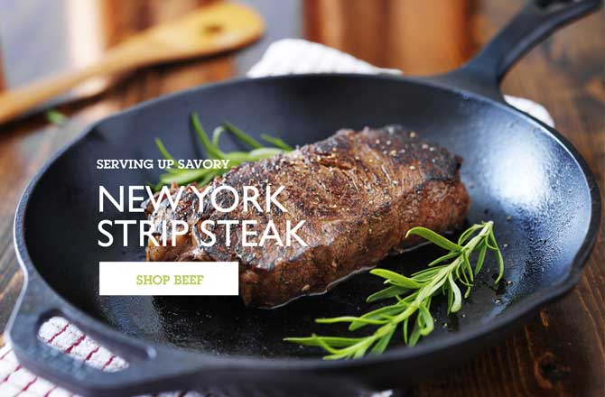 Heffron Farms New York Strip Steak