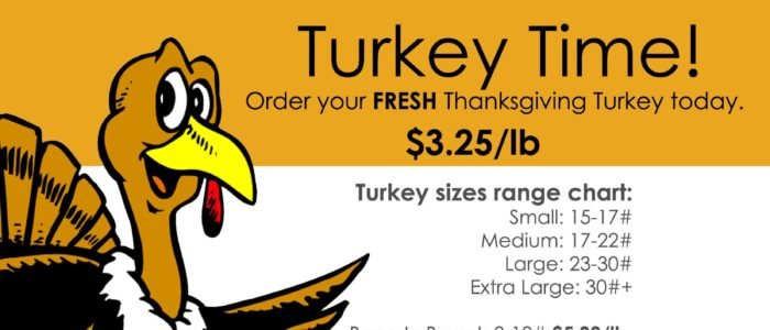FRESH TURKEYS  Just in time for Thanksgiving